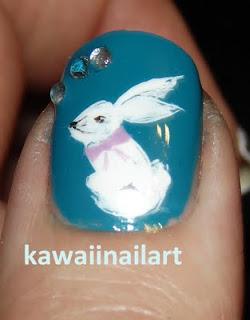 bunny thumb nail art