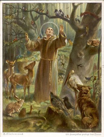 Saint-Francis-preaching-to-the-animals-Hans-Stubenrauch-1875-1941